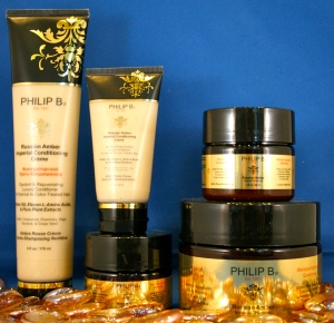 Philip B Russian Amber Imperial shampoo & conditioner made with healing amino acids
