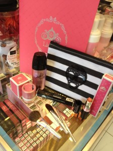 Lioele cosmetic make up display at a health and beauty shop on West Broadway