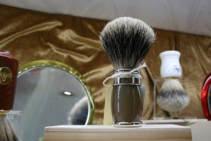 100% badge shaving brushes from Plisson and Joris