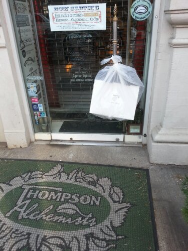 Bread Alone Pastries arriving daily to Thompson Alchemists in Soho NY